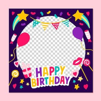 Hand getekend verjaardag facebook frame