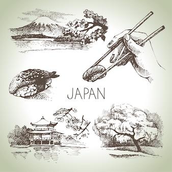 Hand getekend vintage japanse set