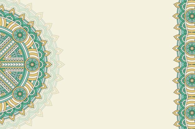 Hand getekend vintage mandala achtergrond