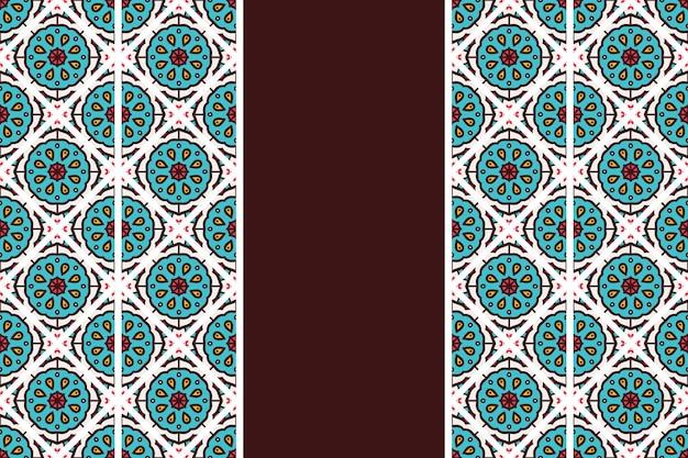 Hand getekend vintage mandala naadloze patroon