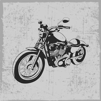 Hand getekend vintage motorfiets