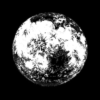 Hand getekend volle maan