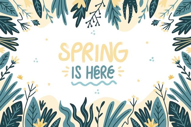 Hand getekend voorjaar achtergrond