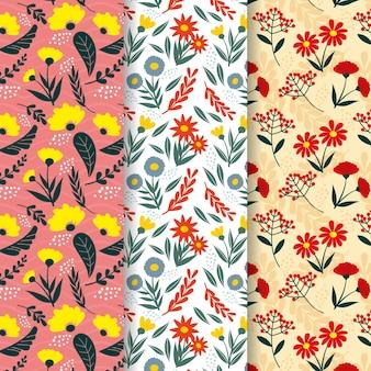 Hand getekend voorjaar patroon collectie