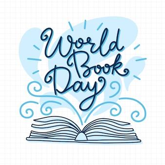 Hand getekend wereld boekdag