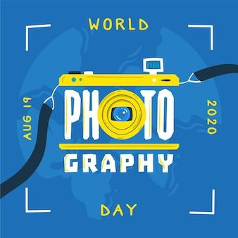 Hand getekend wereld fotografie dag