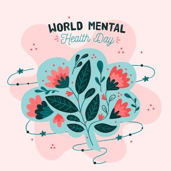Hand getekend wereld geestelijke gezondheid dag