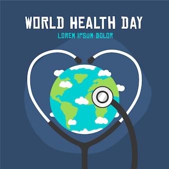 Hand getekend wereld gezondheid dag achtergrond