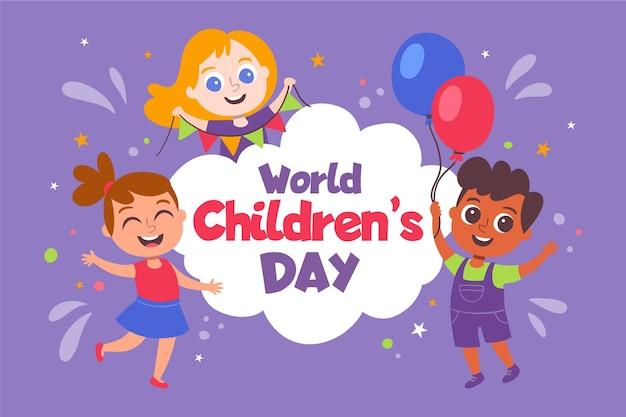 Hand getekend wereld kinderdag concept