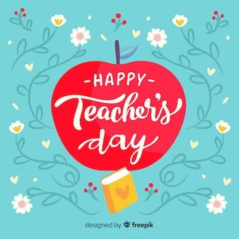 Hand getekend wereld leraren dag concept