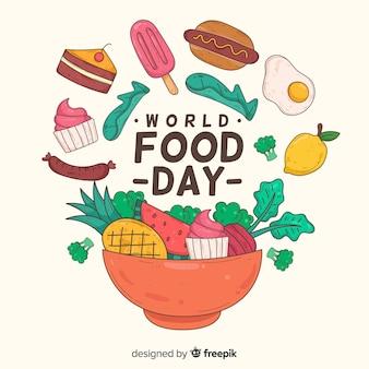 Hand getekend wereld voedsel dag