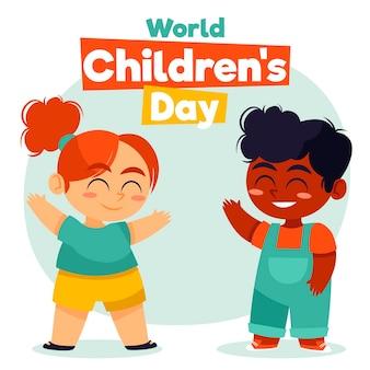 Hand getekend wereldkinderen dag