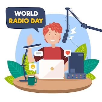 Hand getekend wereldradiodag