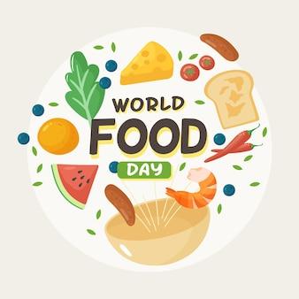 Hand getekend wereldvoedseldag concept