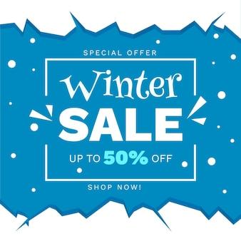 Hand getekend winter verkoop korting