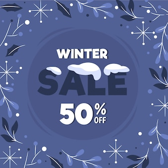 Hand getekend winter verkoop