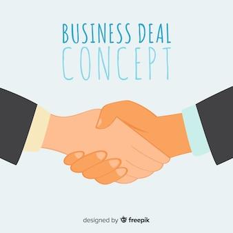 Hand getekend zakelijke deal achtergrond