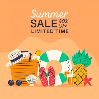 Hand getekend zomer verkoop