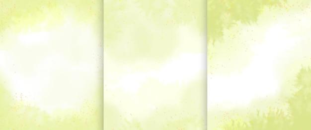 Hand getekende abstracte groene aquarel achtergrond