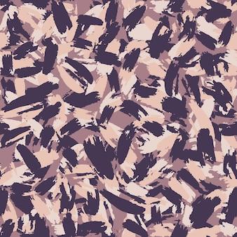 Hand getekende abstracte grunge camouflage naadloze patroon. artistiek penseelbehang. vector illustratie.