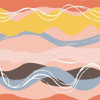 Hand getekende abstracte naadloze patronen.