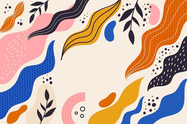 Hand getekende abstracte vormen achtergrond