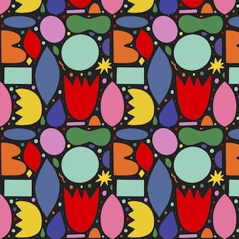 Hand getekende abstracte vormen collectie