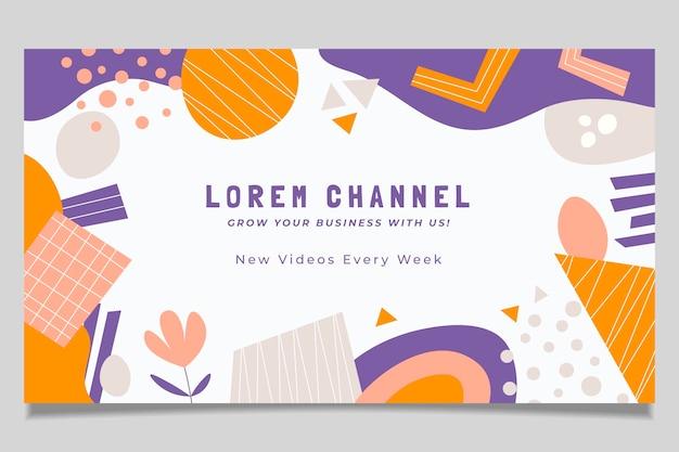 Hand getekende abstracte vormen youtube channel art