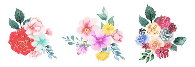 Hand getekende aquarel bloemsierkunst