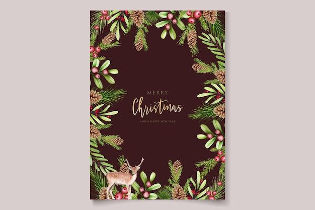 Hand getekende aquarel kerst achtergrond