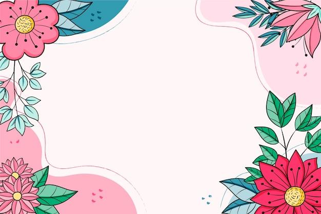 Hand getekende bloemen frame achtergrond