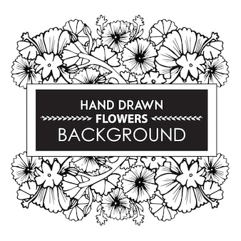 Hand getekende bloemenachtergrond