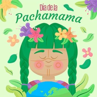 Hand getekende dia de la pachamama illustratie