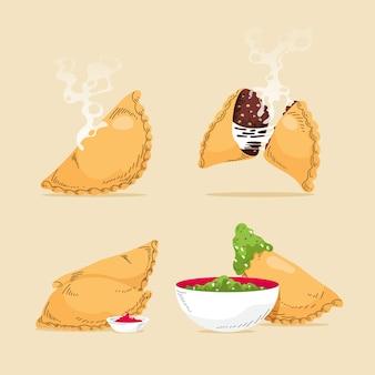 Hand getekende empanada set
