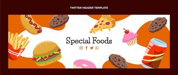 Hand getekende fastfood twitter header