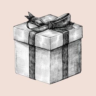 Hand getekende geschenk vak illustratie