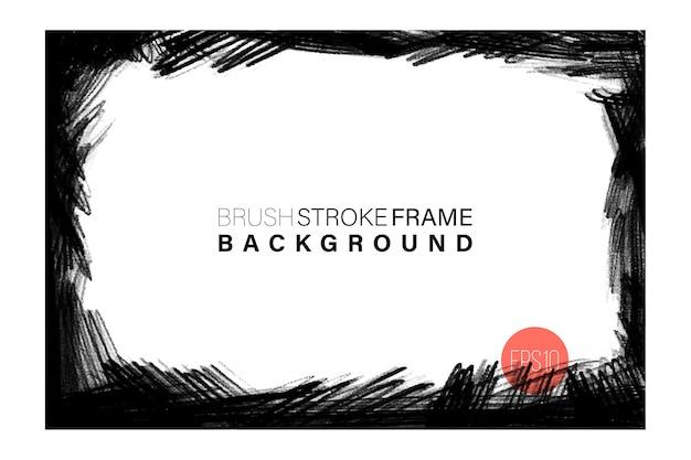 Hand getekende grunge frame rechthoekige vorm.