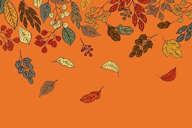 Hand getekende herfst achtergrond