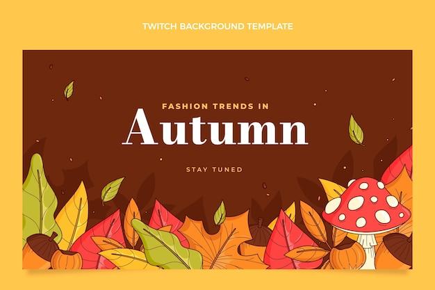 Hand getekende herfst twitch achtergrond