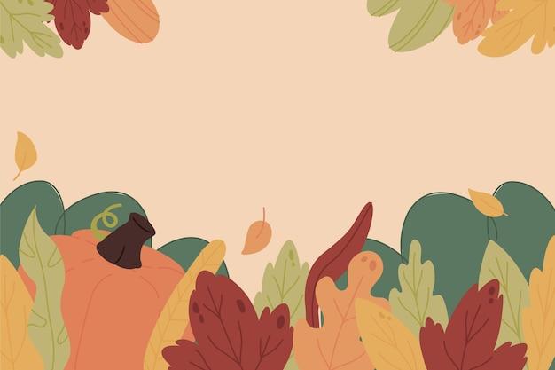 Hand getekende herfstbladeren achtergrond