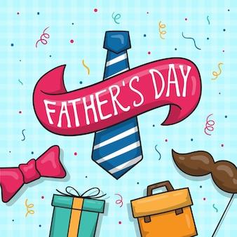 Hand getekende illustratie voor vaderdag evenement