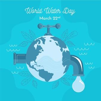 Hand getekende illustratie wereld water dag