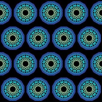 Hand getekende kant etnische abstracte muurschildering kleurovergang gekleurde mandala naadloze patroon achtergrond voor gebruik in ontwerp kaart, uitnodiging, boek, album, poster, brochures, notebook enz