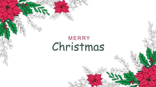 Hand getekende kerst decoratie achtergrond c