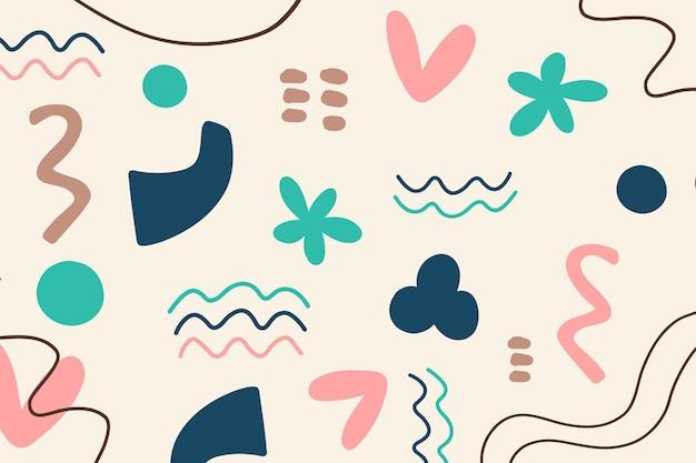 Hand getekende kleurrijke vormen achtergrond