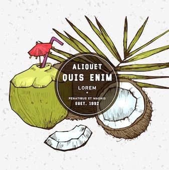 Hand getekende kokos