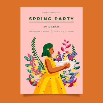Hand getekende lente partij poster