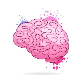 Hand getekende merk vector. logo geïsoleerd op kleurrijke aquarel verf splashes.template ontwerp voor visitekaartjes, toepassingen en websites.illustration geïsoleerd op een witte achtergrond