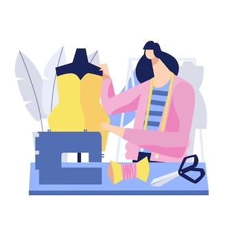Hand getekende modeontwerper