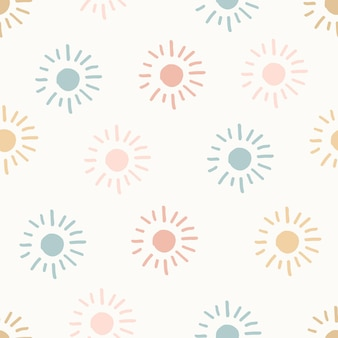 Hand getekende moderne doodle naadloze patroon. pastelkleur grunge achtergrond. vector illustratie